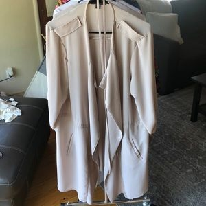 Cream Primark Duster Jacket/overcoat